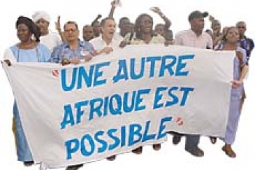 "Another Africa is possible,"" declare African civil society groups gathered in Mali (see article ""Another Africa is possible""). A strong desire for change is spurring new visions of Africa's political and economic future. Photo : ©Joan Baxter"