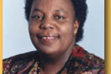 Ms. Gertrude Mongella: An internationally known Tanzanian gender activist was elected to preside over the new parliament.  Photo : ©UN / E. Schneider
