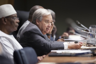 Secretary-General António Guterres speaks at the high-level meeting on Mali and the Sahel.