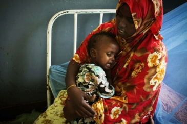 Victims of famine seek treatment at Mogadishu hospital
