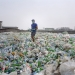 A man sorting a sea of plastic bottles at one of the Wecycler hubs in Lagos, Nigeria. Most plastic litter from cities ends up in oceans.