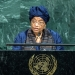 President Ellen Johnson Sirleaf of the Republic of Liberia addresses the General Assembly's annual general debate. UN Photo/Cia Pak