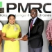 The Mayor of Kitwe, Mr Christopher Kang'ombe, who is also the president of the Local Government Association of Zambia, paying a courtesy call on Policy Monitoring & Research Centre Executive Director Bernadette Deka and her research team in February 2017.