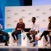 Young entrepreneurs from Egypt, Rwanda and Peru discuss their experiences with US former President Barack Obama and Facebook CEO Mark Zuckerberg at an entrepreneurship summit at Stanford University last year. Photo: Stanford University/Aaron Kehoe