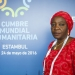 Aishatu Margima at the World Humanitarian Summit. Photo: UN/Fabrice Robinet