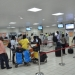 Passengers in the departure hall of Kotoka International Airport, Accra, Ghana. Photo: Ghana Airports Company