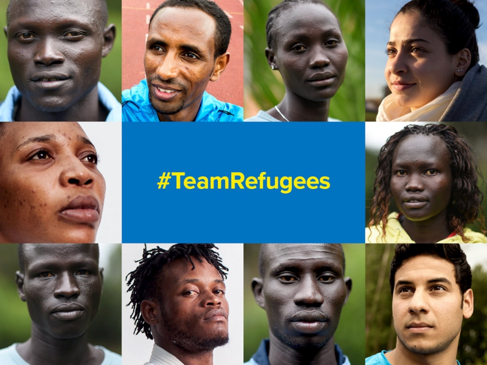For the first time, a team of refugee athletes will compete under the Olympic flag.   © UNHCR