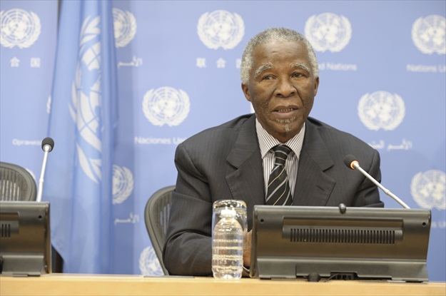 Former President of South Africa and Chair of the High-Level Panel on Illicit Financial Flows Thabo Mbeki. UN Photo/Eskinder Debebe
