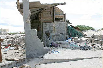 A house destroyed by the tsunami in Somalia