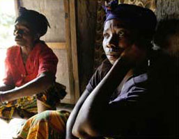 Women who were raped by an insurgent group in the Congo