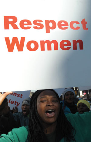Women's Day rally in South Africa