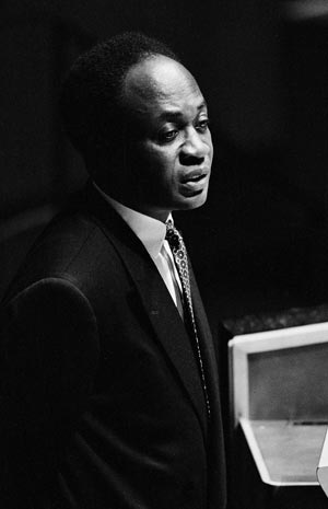 Kwame Nkrumah speaking before the United Nations in 1961