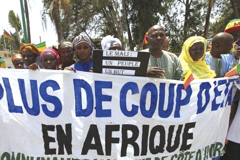 """No more coups in Africa,"" declare demonstrators in Bamako, Mali"