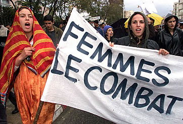 Women demonstrate in Algeria for changes in the Family Code to allow them greater rights