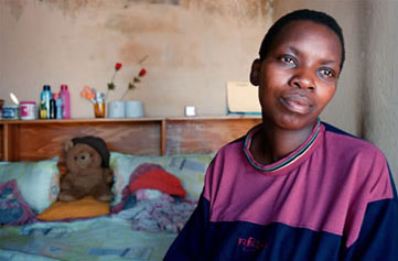 A South African woman whose daughter was raped and died of AIDS