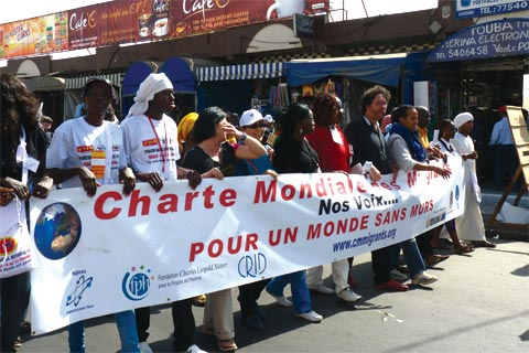World Social Forum march in Senegal