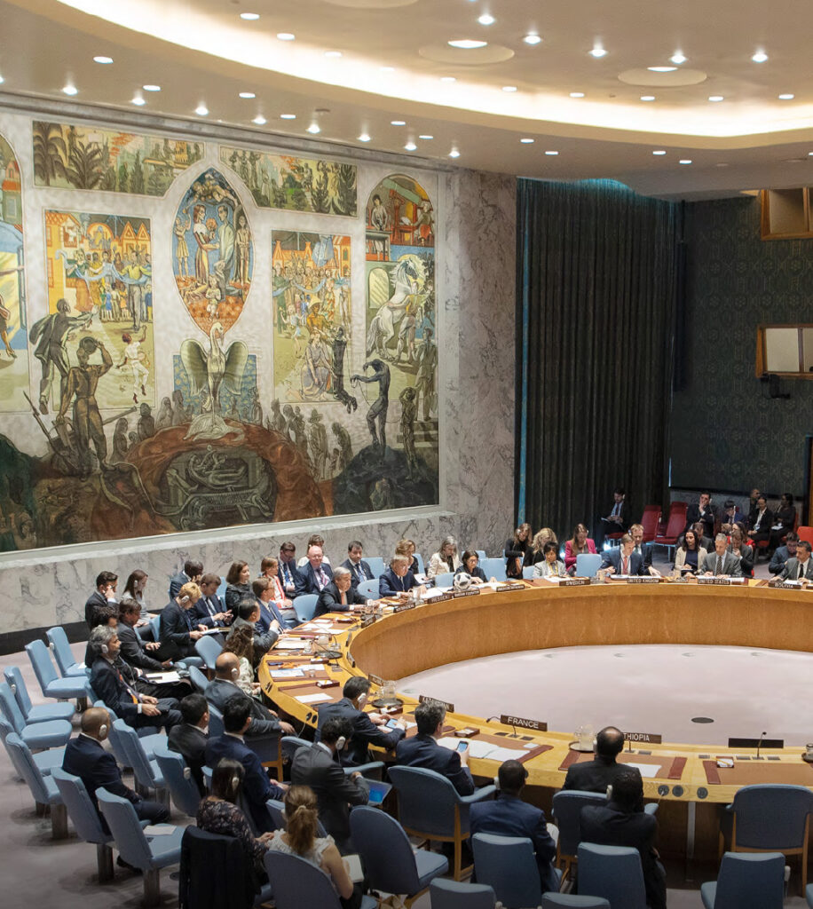 Secretary-General António Guterres addresses the Security Council meeting on the maintenance of international peace and security, focusing on a comprehensive review of the situation in the Middle East and North Africa.