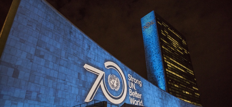 Projections on Sustainable Development Goals and 70th Anniversary of the United Nations