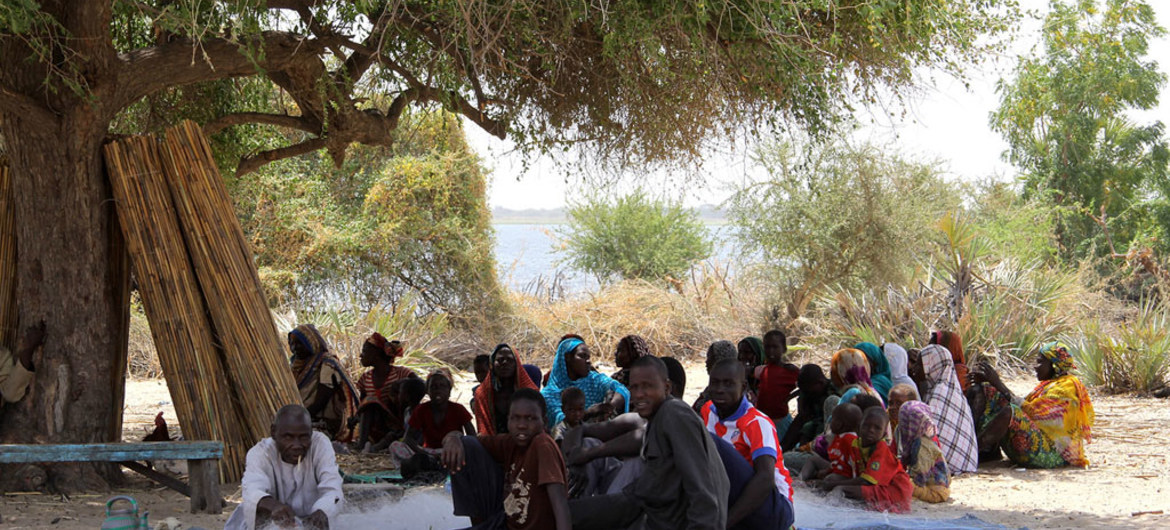 In Tagal, Chad, an IDP community meets under a tree