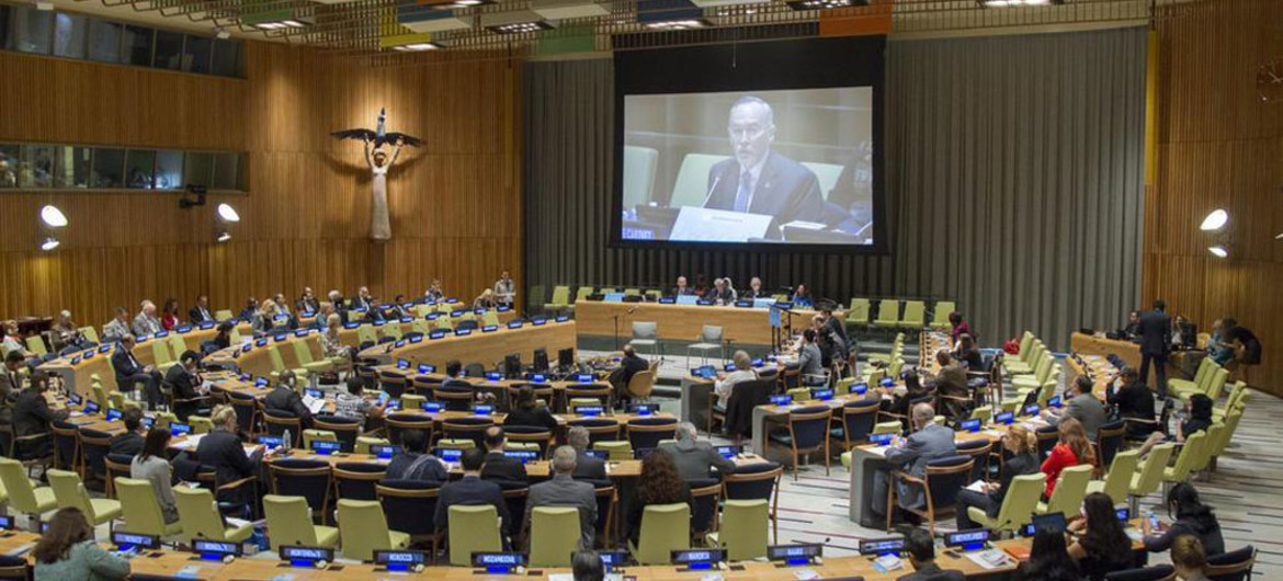 Wide view of the GA High-level Forum on the Culture of Peace