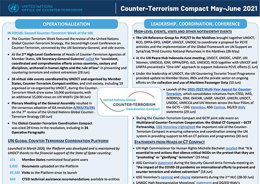 Preview of the Global Compact May to June 2021 newsletter