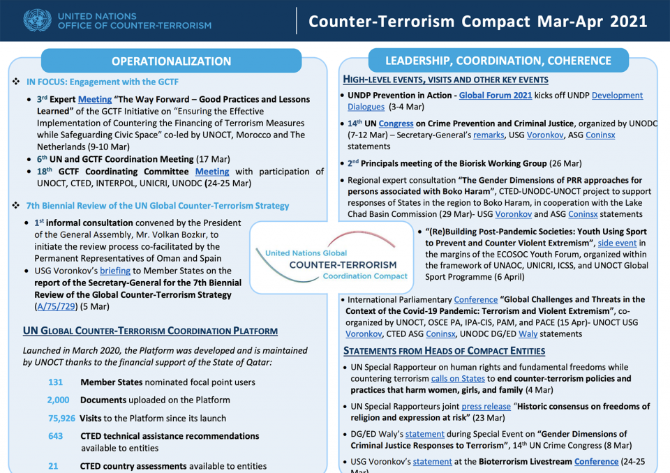 Preview of the Global Compact March to April 2021 newsletter