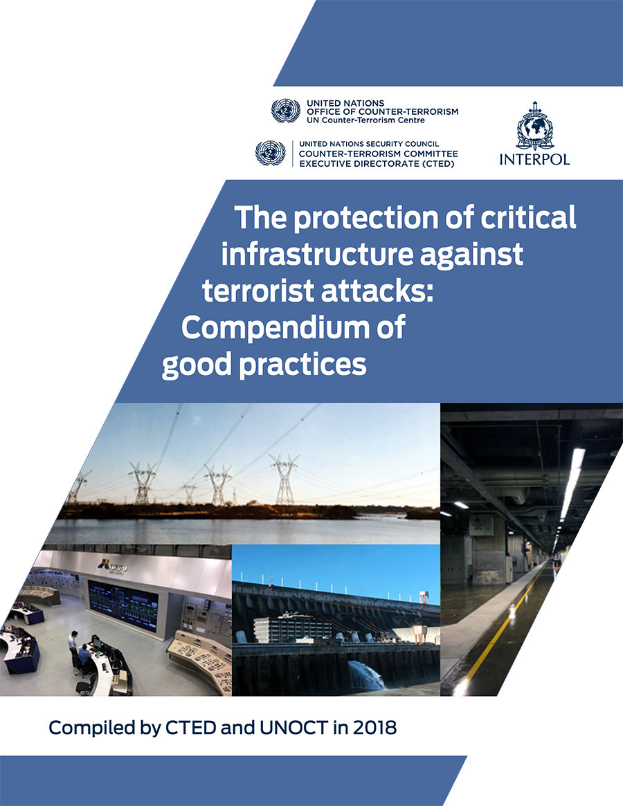 Graphic of the Compendium of Good Practices on the protection of Critical Infrastructures