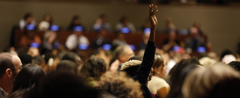 Graphic of the CSW63 Townhall Meeting of United Nations and Civil Society