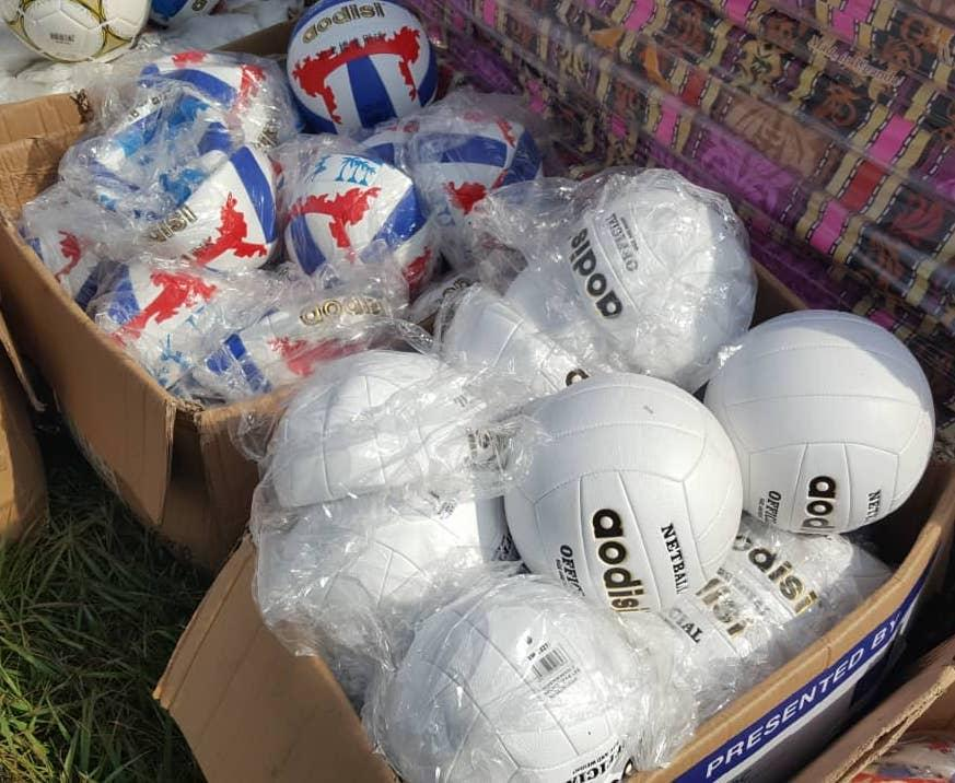Image of Uganda Prisons service receives equipment: football