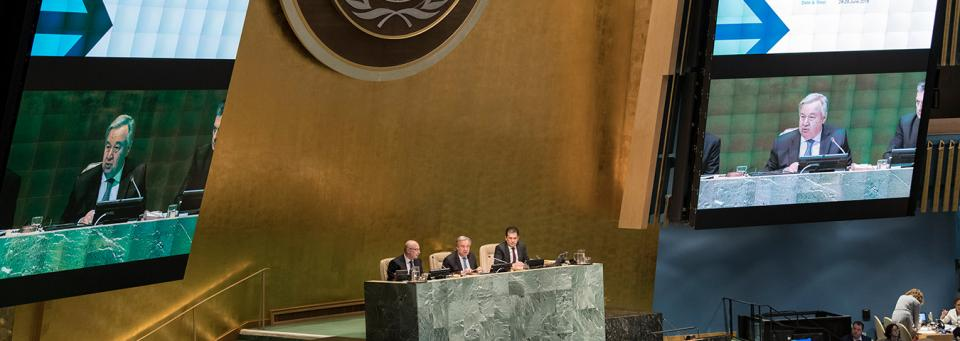 SG António Guterres addresses the opening of the High-level Conference on Counter-Terrorism