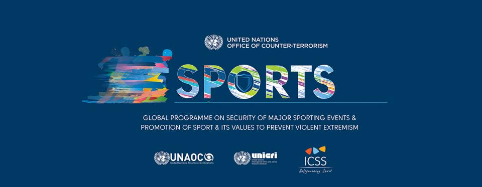 UNOCT's sports and security programme banner