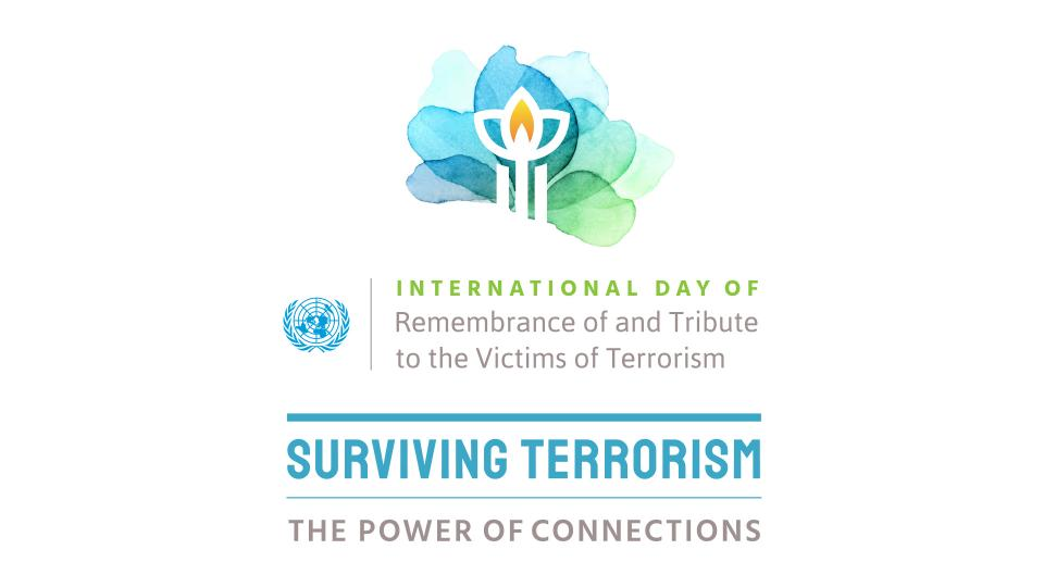Logo of the 2021 International Day of Remembrance of and Tribute to the Victims of Terrorism