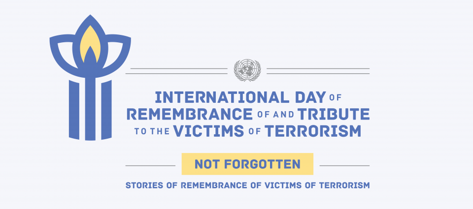 Graphic of international day of remembrance and tribute to the victims of terrorism