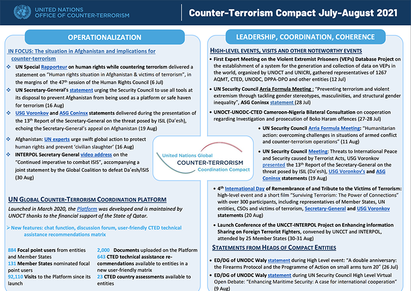 Preview of the Global Compact July to August 2021 newsletter