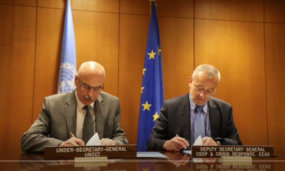 UN counter-terrorism office and the EU's security and defense section