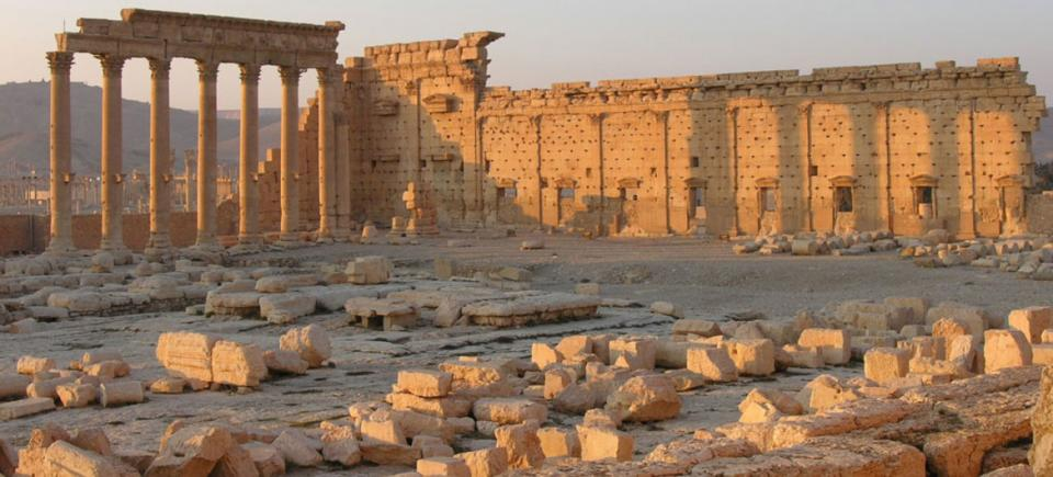 Destruction at the World Heritage site of Palmyra in Syria