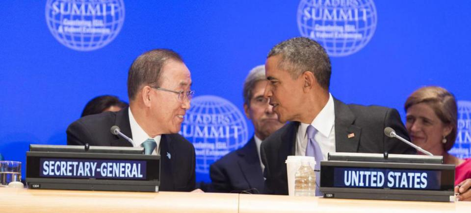Secretary-General Ban Ki-moon at the Leaders' Summit on Countering Violent Extremism, hosted by United States President Barack Obam