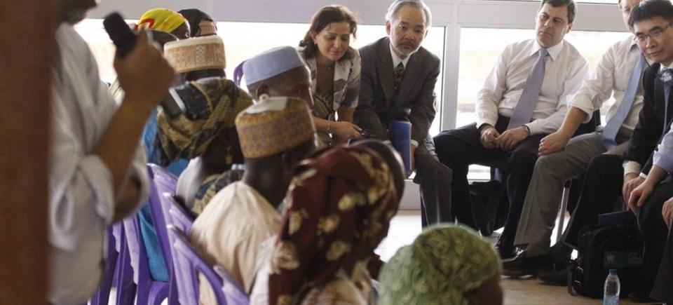UNSC with internally displaced persons in northern Cameroon