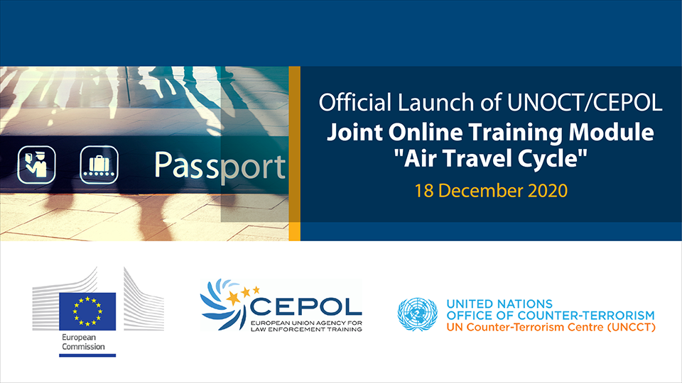 Preview of CEPOL-UNOCT 'Air Travel Cycle' online module