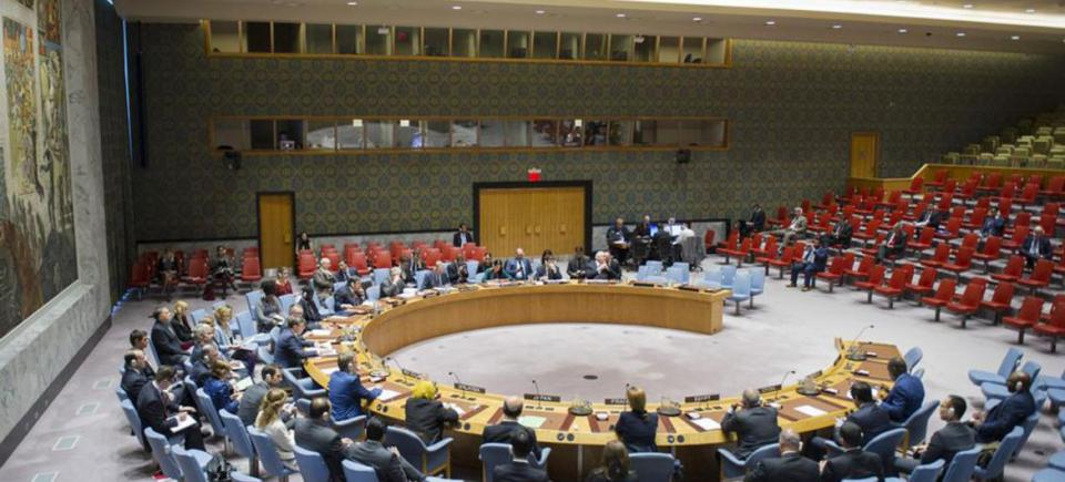 Wide view of the SC during meeting threat by Islamic State of Iraq