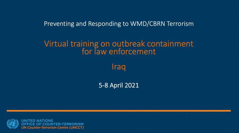 Preview of the Virtual Training in Iraq