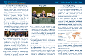 UNOCT in Review - May 2019
