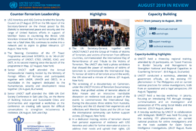 UNOCT in Review - August 2019