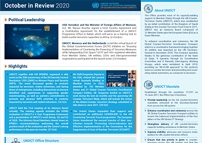 Preview of UNOCT's newsletter