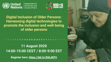 Digital Inclusion of Older Persons: Harnessing digital technologies to promote the inclusion and well-being of older persons
