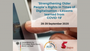 OEWG inter-sessional event: Strengthening Older People's Rights in Times of Digitalisation – Lessons learned from Covid-19