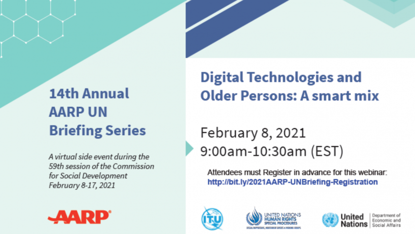"Virtual side event on ""Digital Technologies and Older Persons: A smart mix"""
