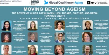 Moving Beyond Ageism: The power of older age in work, healthcare, culture, and media towards equity, 16 March 2021