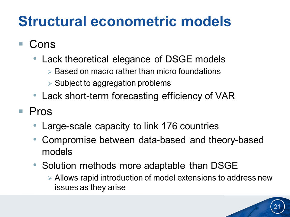 Policy Modelling and Analysis | Economic Analysis & Policy Division