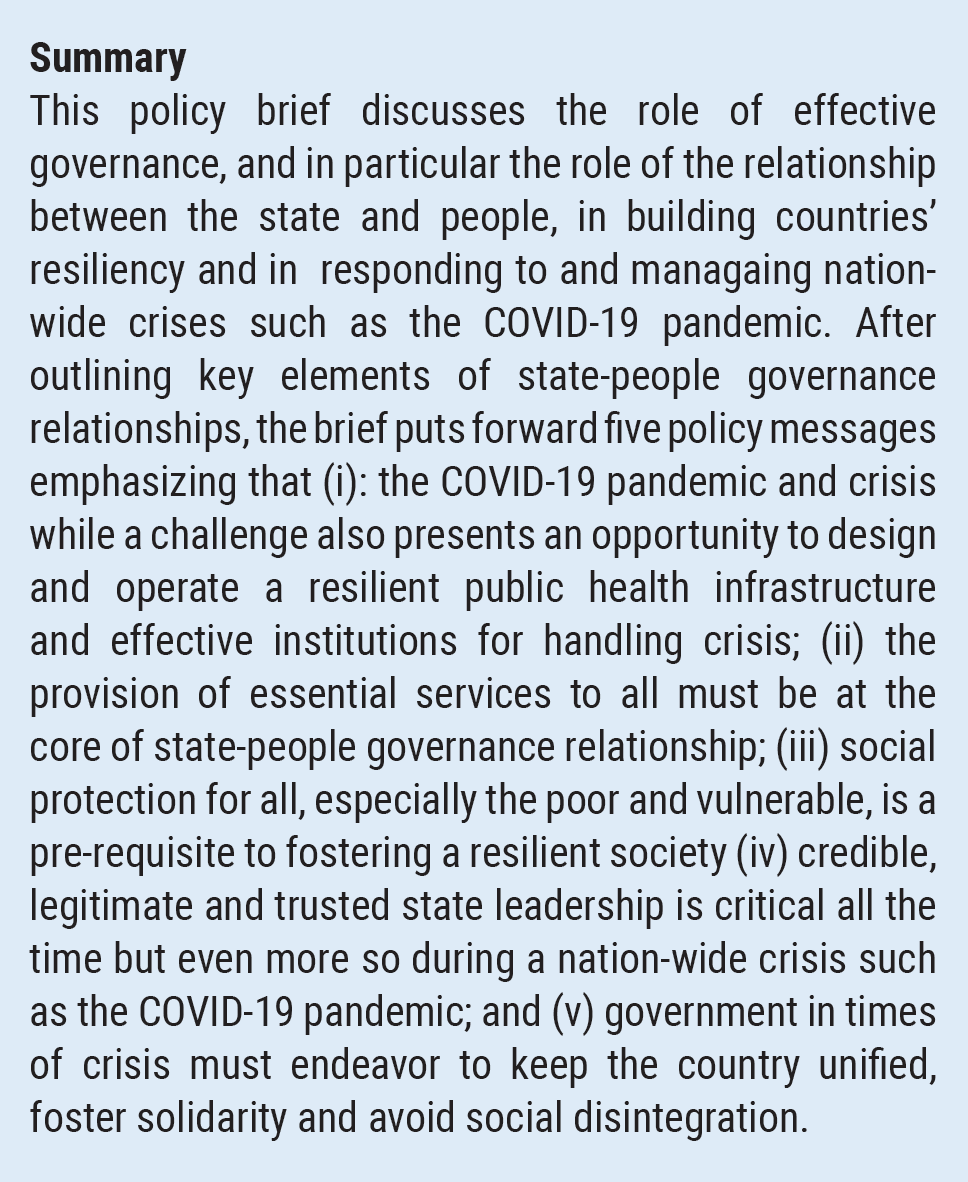 COVID-19 And Reaffirming State-People Governance Relationships   Department  Of Economic And Social Affairs